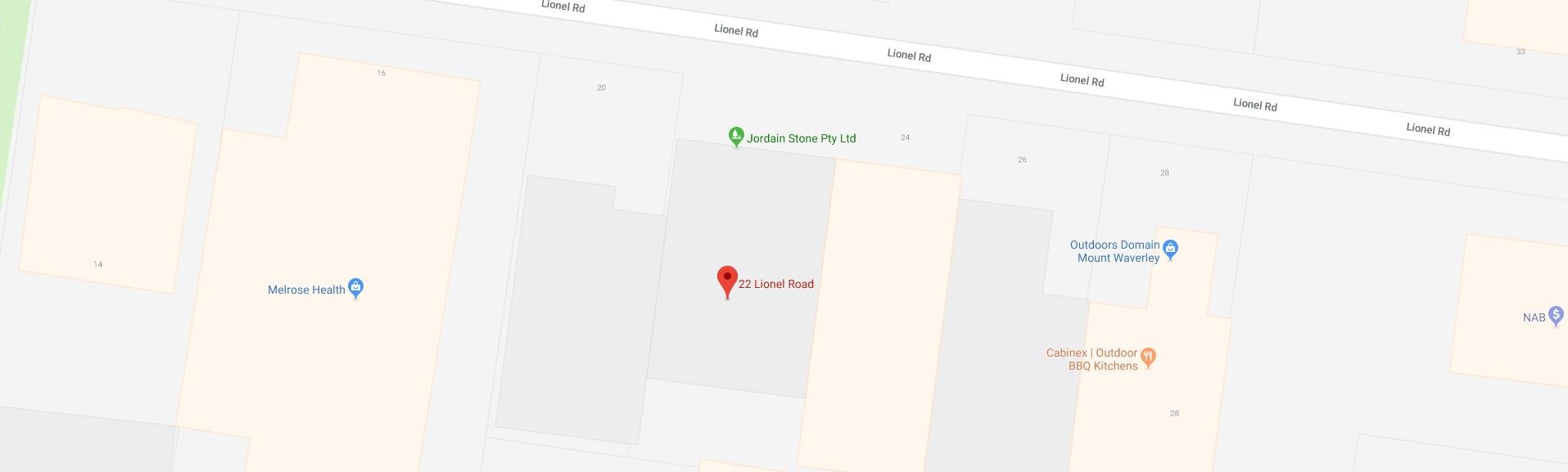 jordain location map